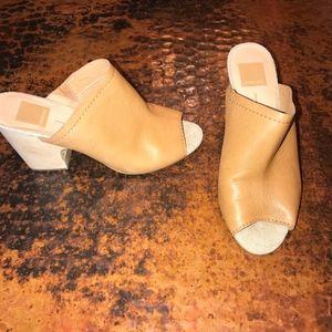 Dolce Vita Tan Mule Sandals - 7 1/2
